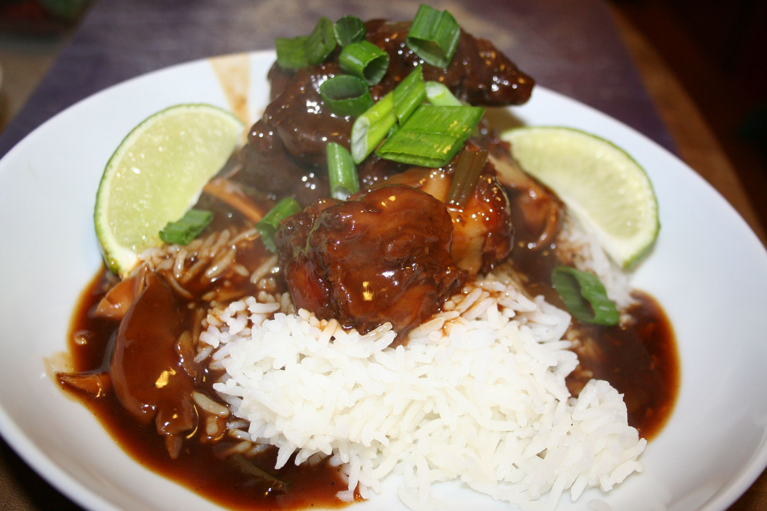 Oxtail stew over rice