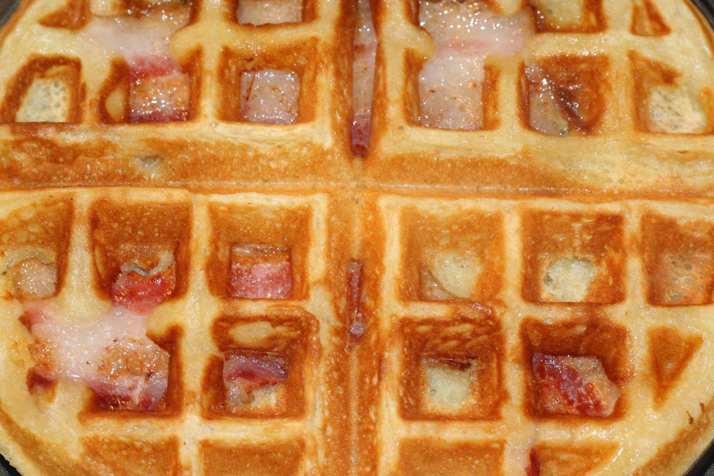 Crispy Bacon inside the waffle
