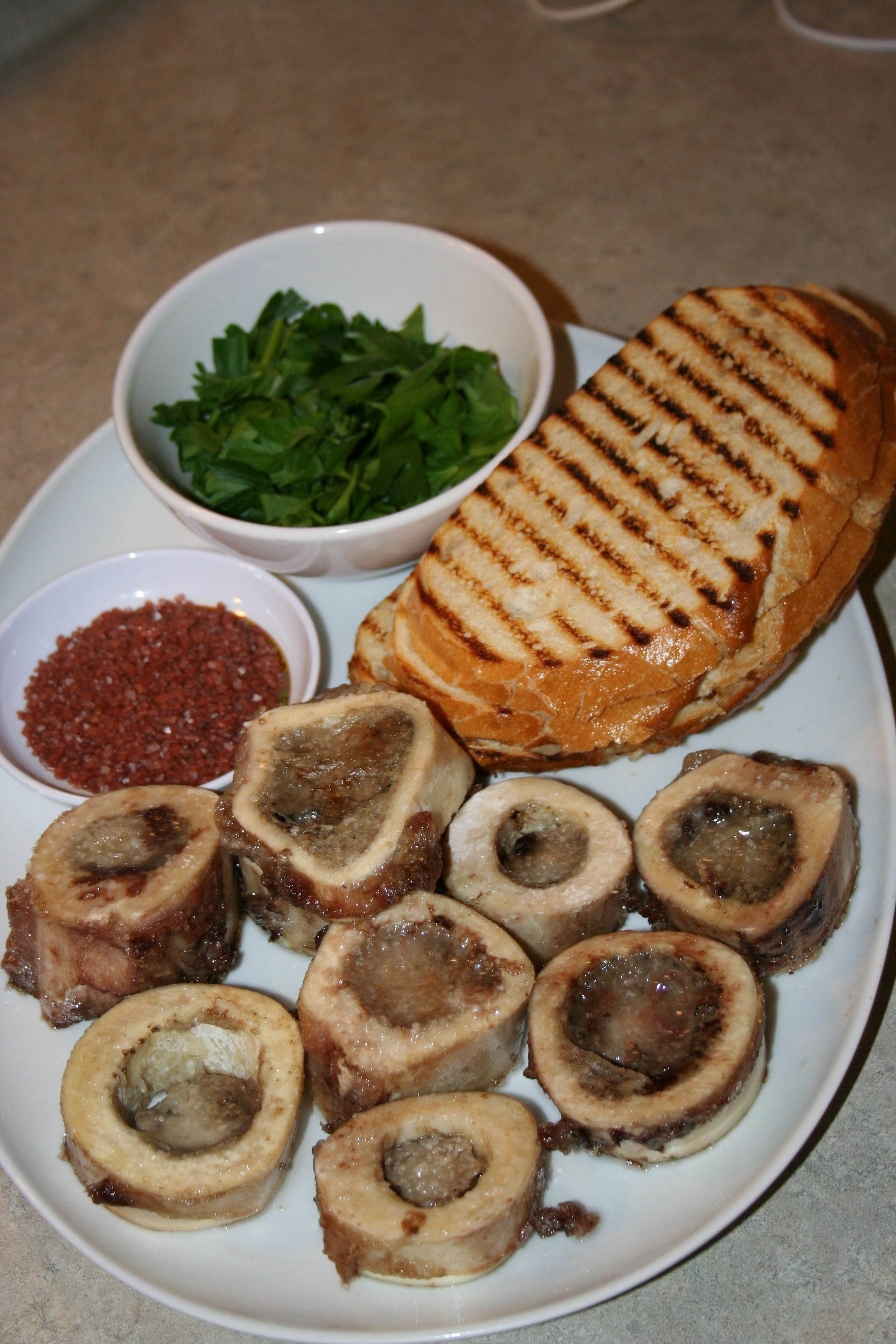 Roasted Marrow Bones Appetizer