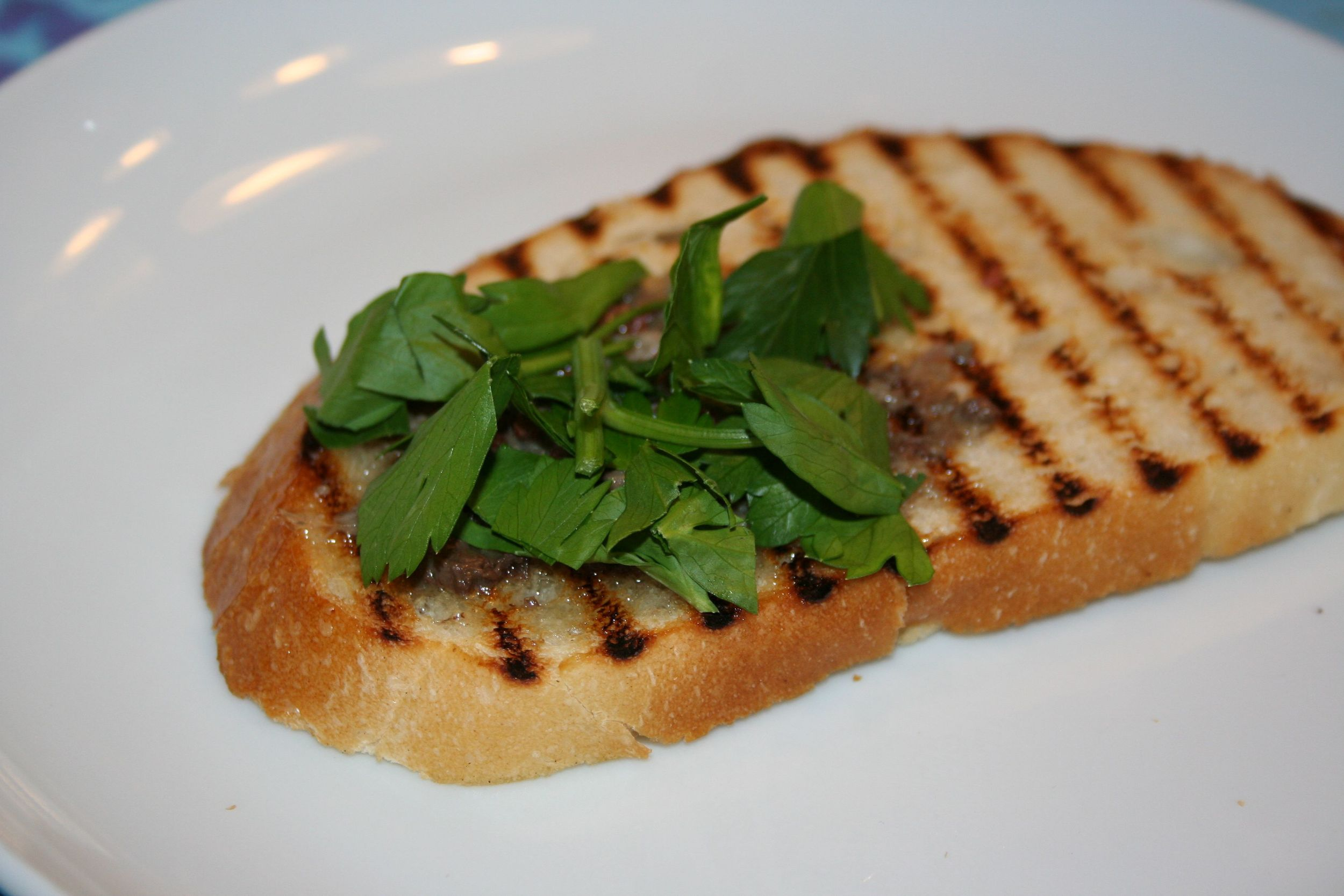 marrow on toast with sea salt and parsley