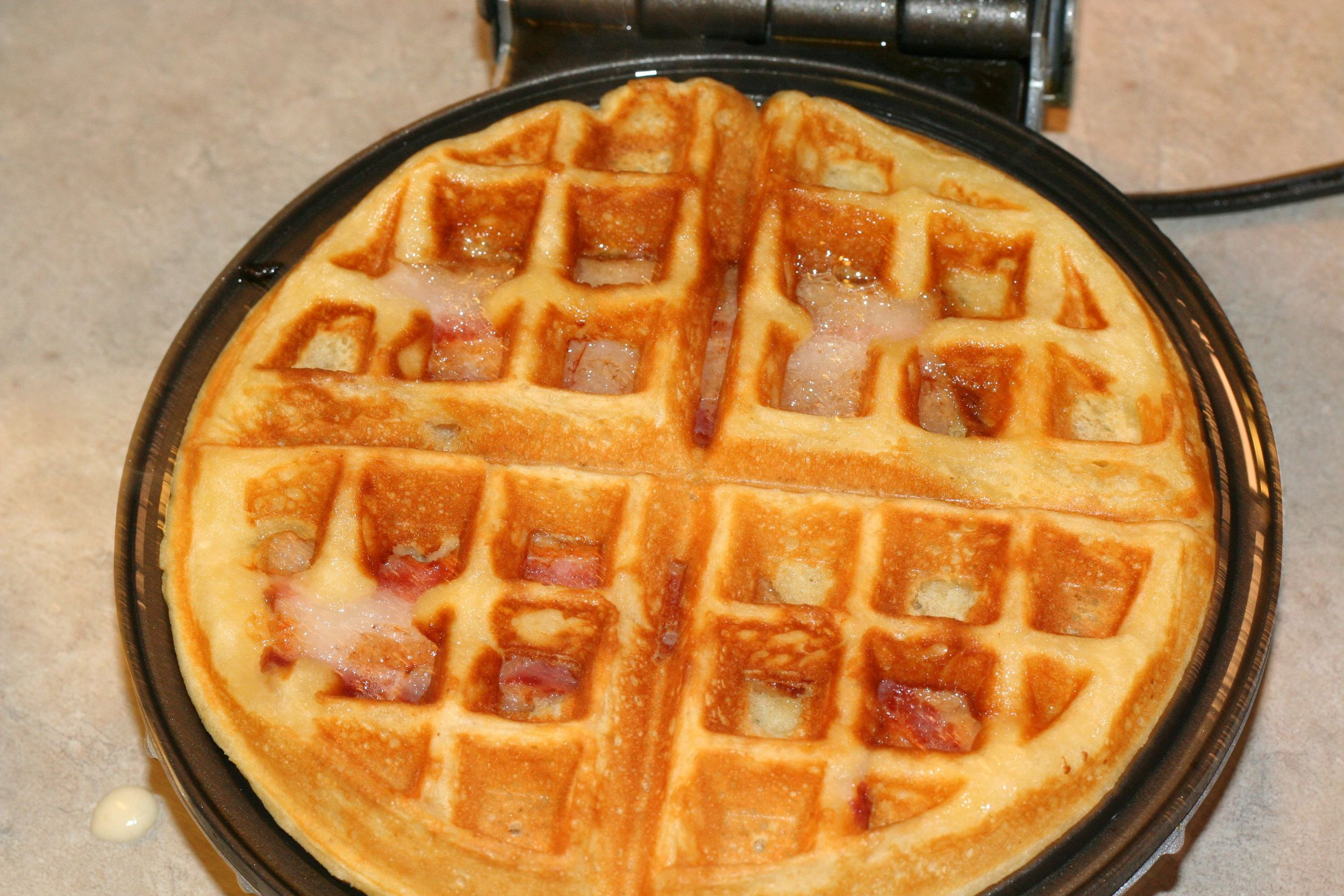 waffles hot from the iron