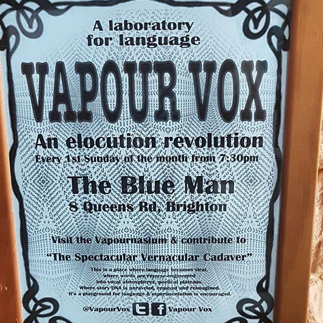 Tonight! Vape vox @bluemanbrighton Free entry from 8 . . . #Brighton #Brightonbar #Brightonevent #vapevox #freeevent