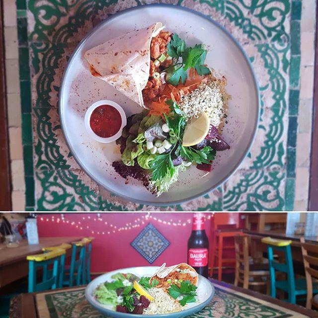 Special Vegan Flooka! With a delicious side salad @bluemanbrighton . . . #brightonandhove #brightonvegan #Brighton #brightonfood #Vegan #vegetarian #Brightonbar #brightonfood #brightoncafe