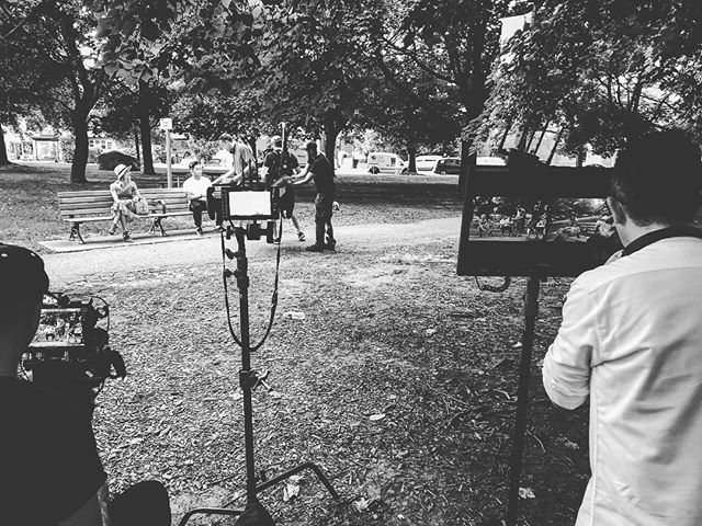 Making commercials! Crazy to think Toronto was a steamy 30degrees two months ago when we filmed this spot. #flashbackfriday #film #commercial #toronto #trinitybellwoods