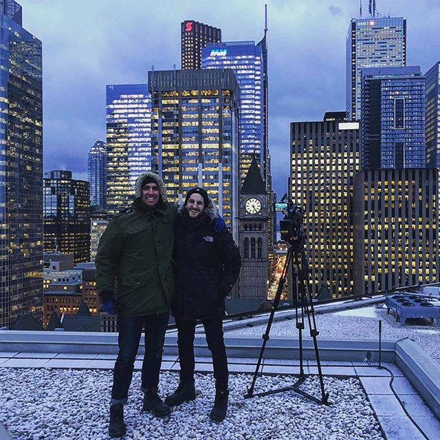 Rooftop shoot vibes . . . . . . #chilly #toronto #rooftop