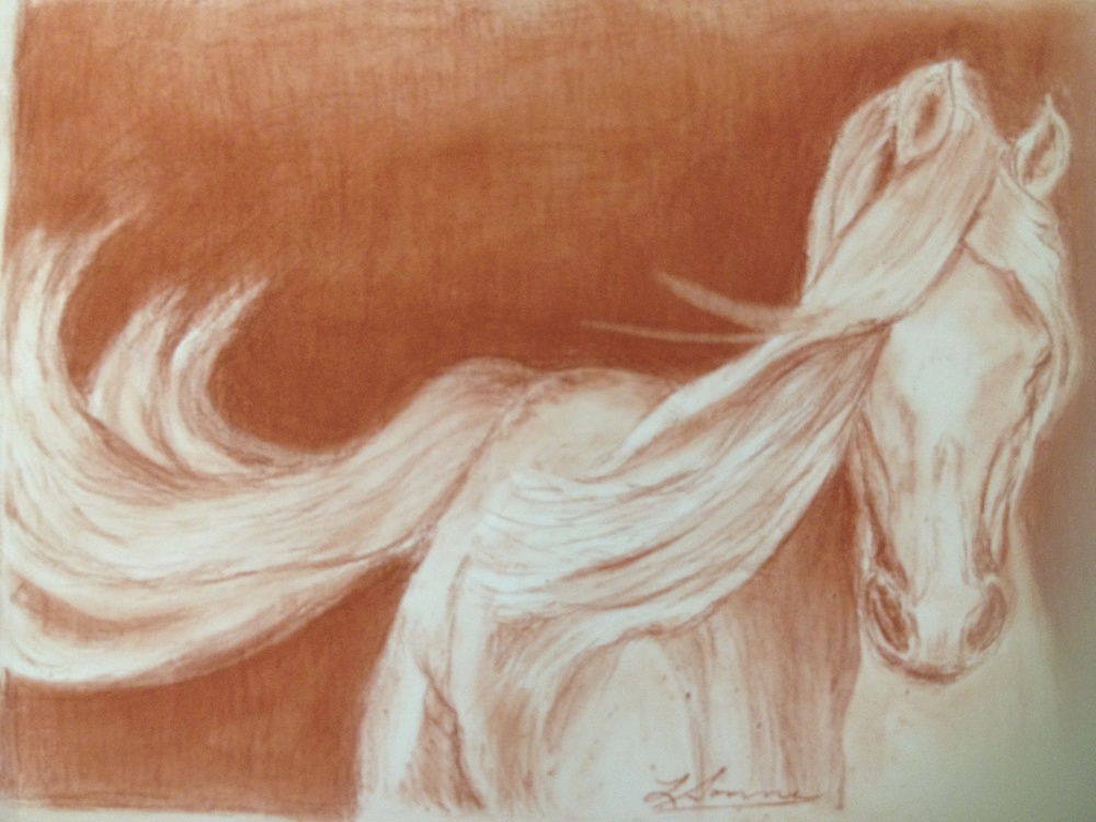Gorgeous 2, Pastel on paper.