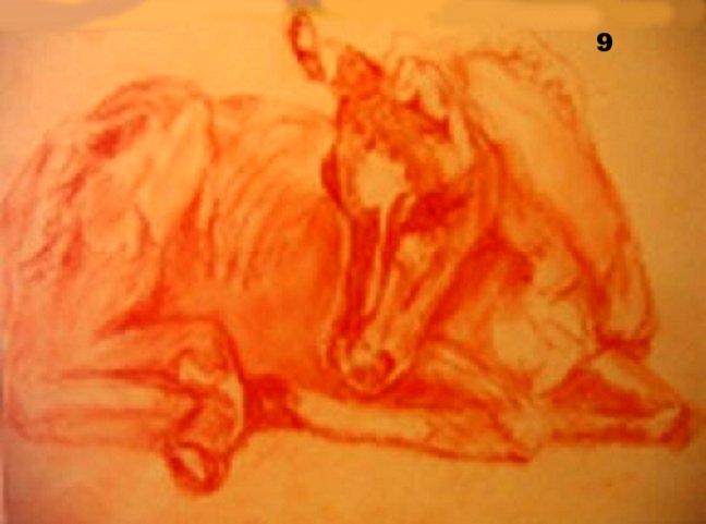 Birth, Pastel on paper.
