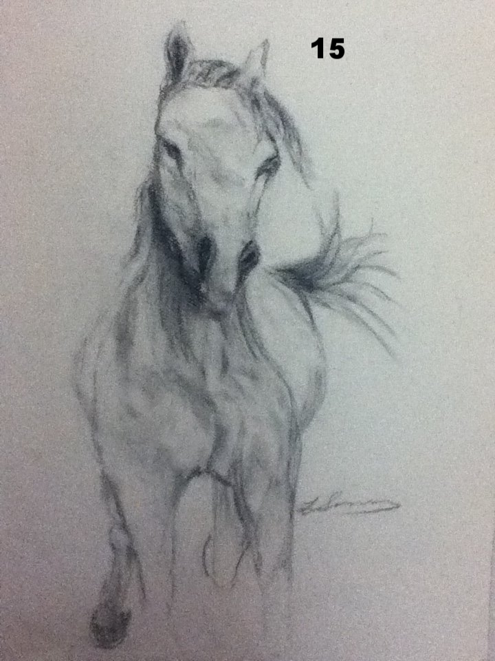 Racer, Charcoal on paper.