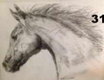 Portrait 2, Charcoal on paper.