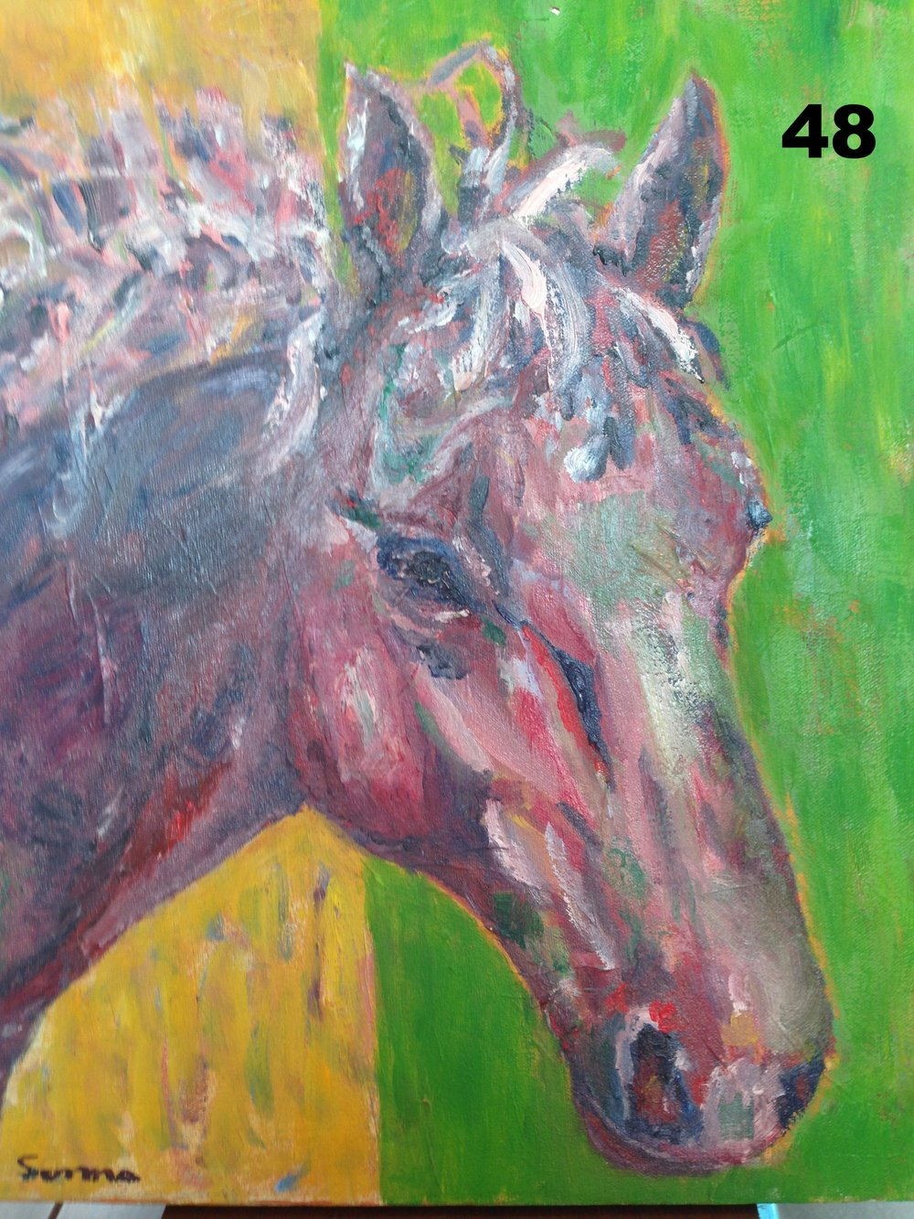 Stabled, Oil on canvas.