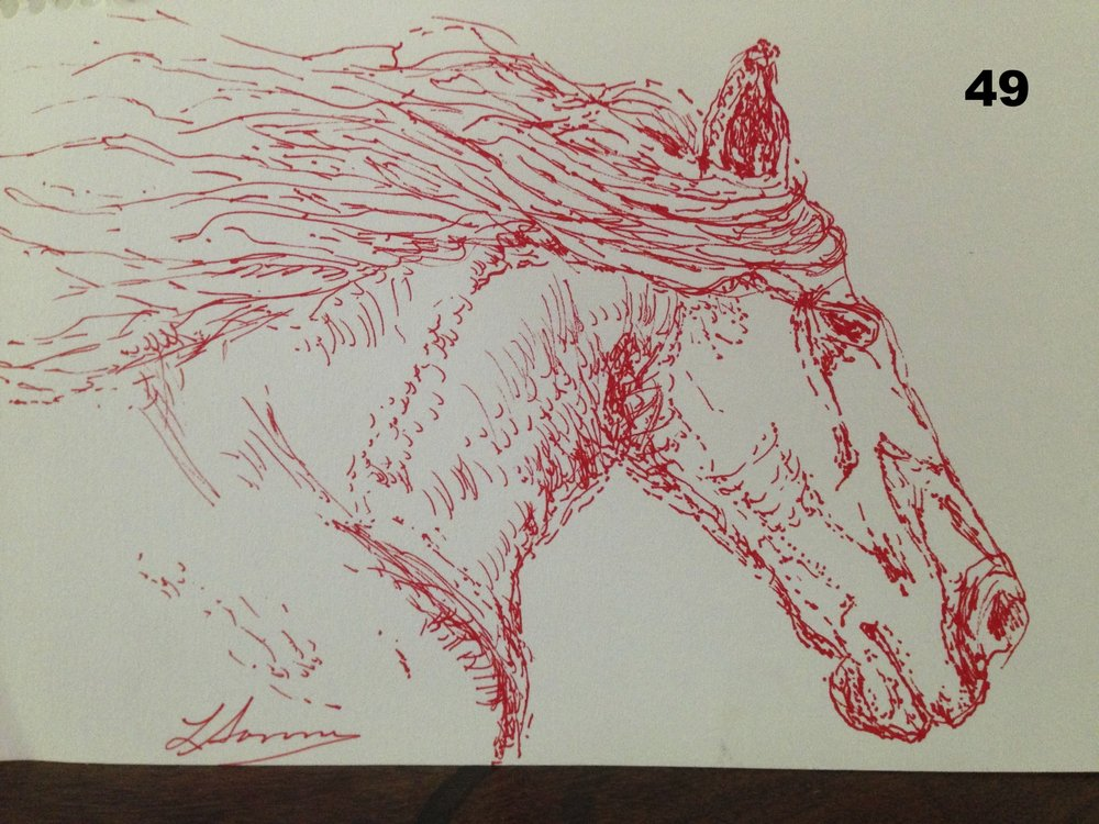 Red, Ink on paper.