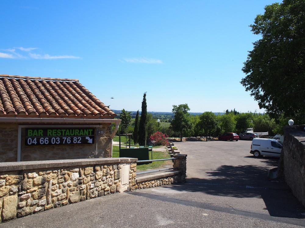 parking lot by the village café