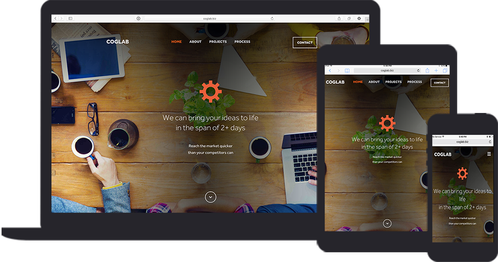 - Coglab is one of the first projects that didn't require me to code -they have talented developers - and got me focused on wireframes and mockups. I really enjoyed working with them and they were even cool enough to stick my face on the front page as well.hello