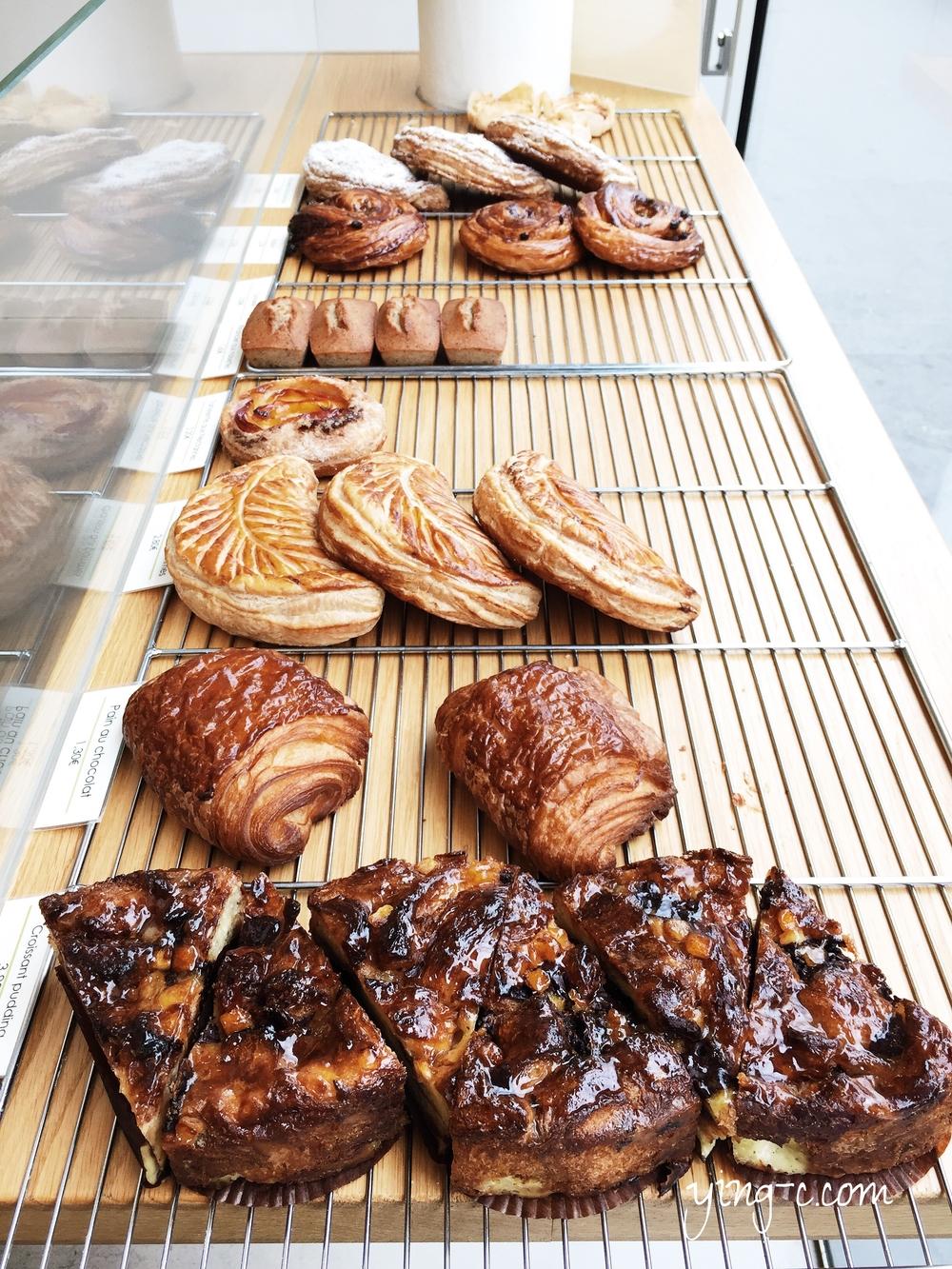 在我最愛的甜點店之一「 Mori Yoshida 」販賣的 viennoiserie 酥皮與奶油甜麵包們。(攝影:Ying Chen)