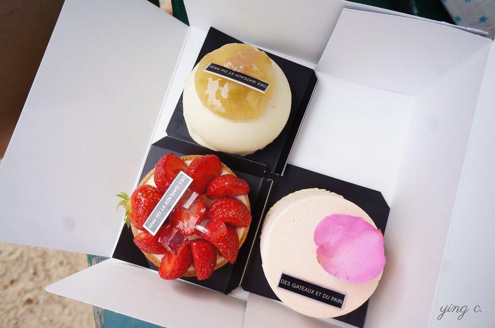 The beautiful pastries from des Gâteaux et du Pain.  Des Gâteaux et du Pain的美麗甜點們。
