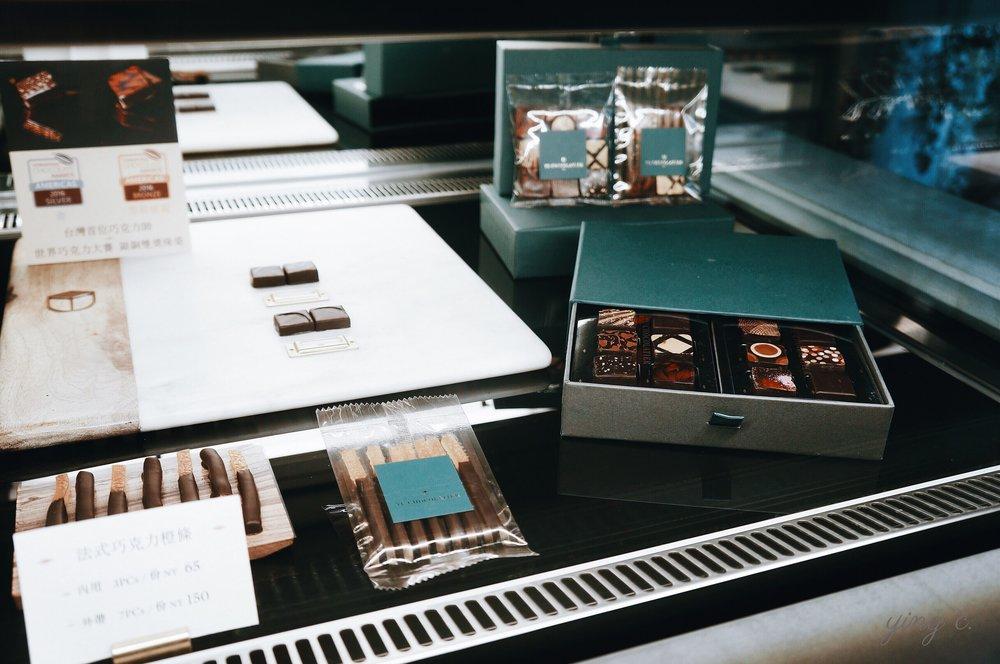 畬室招牌的夾心巧克力與巧克力橙條。其夾心巧克力的工藝成就與國際曝光度幾為台灣第一人。