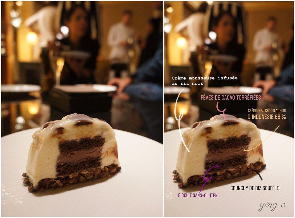 Le Cacao聖誕節蛋糕切面。