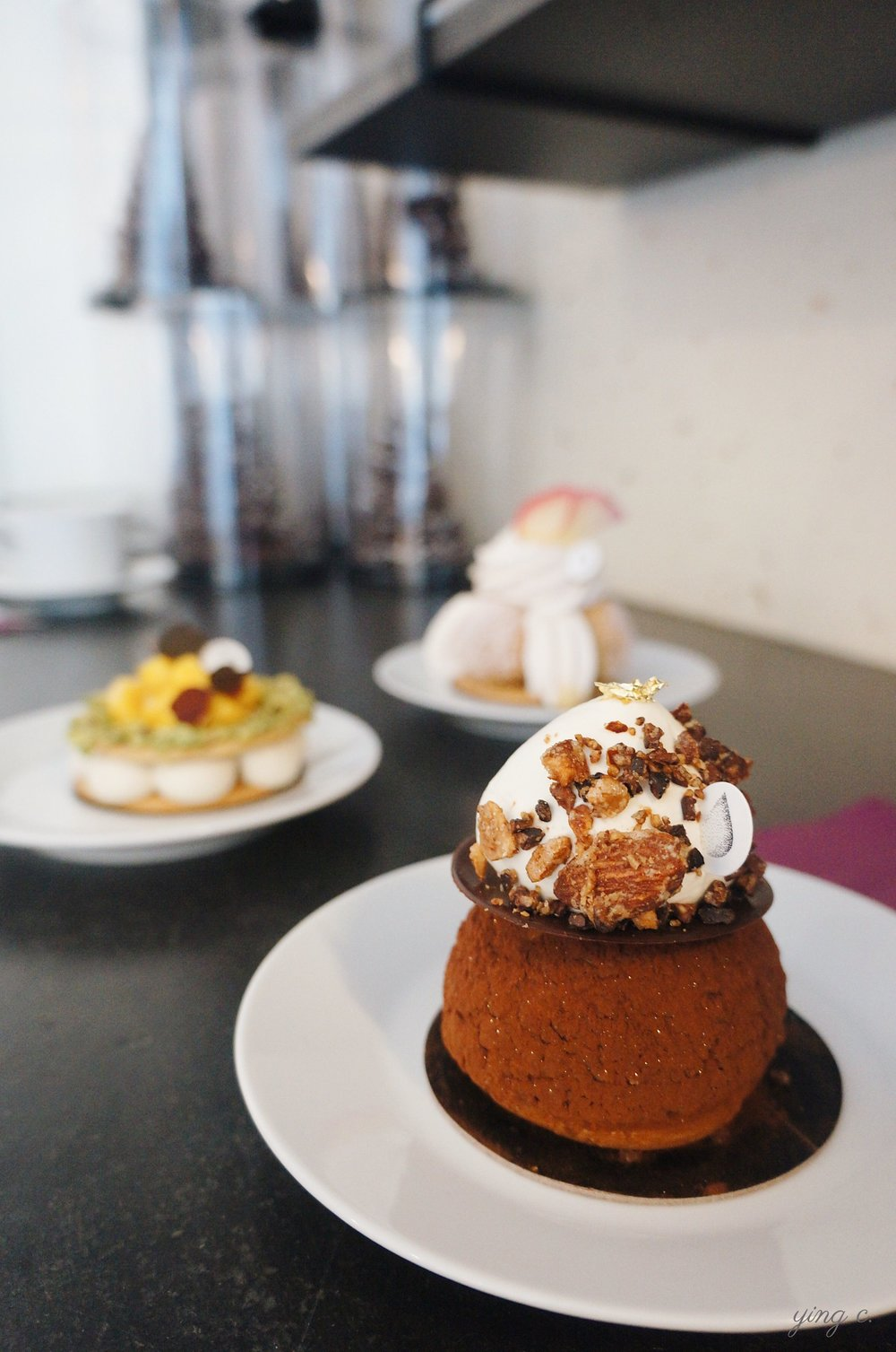 """What we've picked in the end - """"Chou fève de cacao"""" (cocoa nibs cream puff)."""