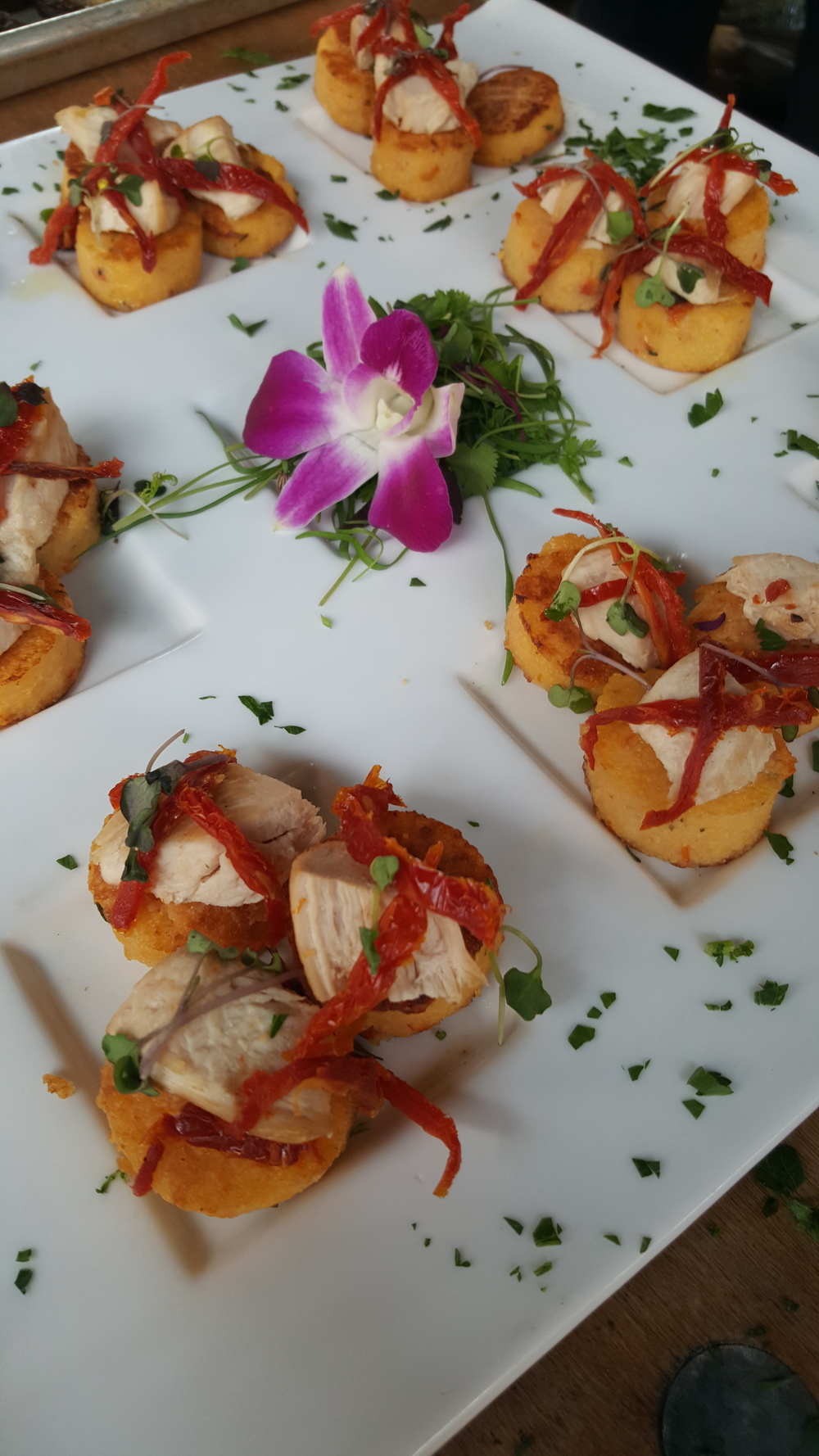 Polenta & Chicken Tartlets