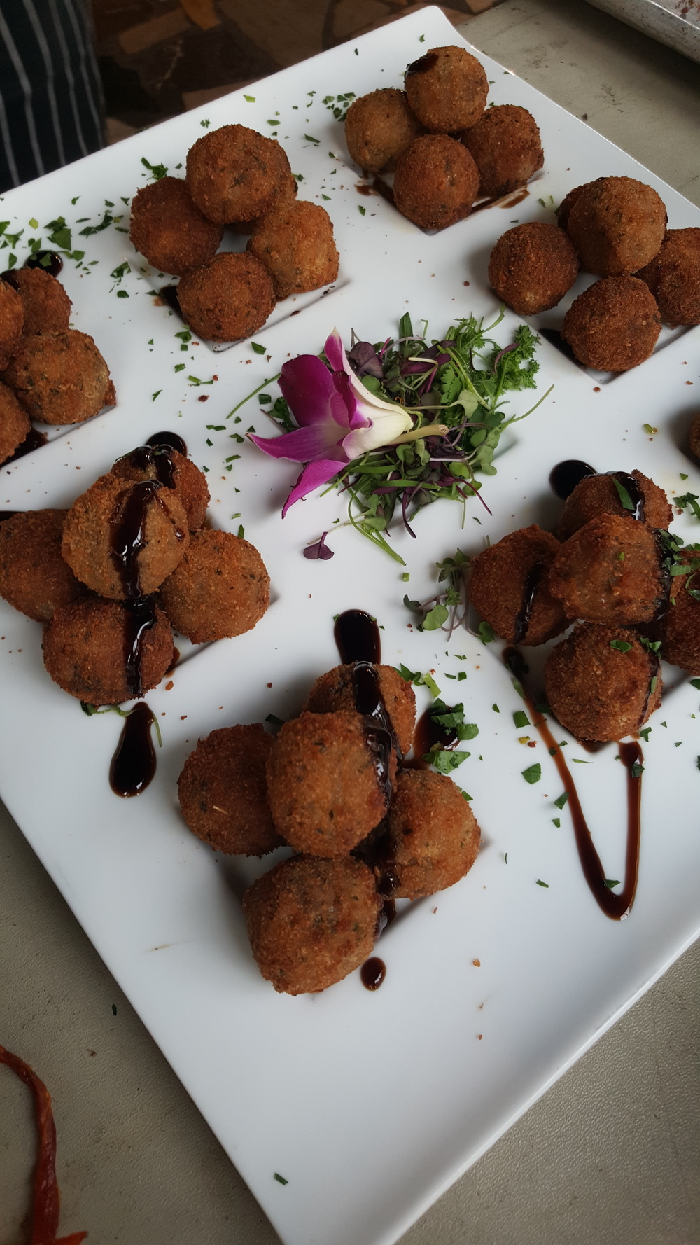 Crispy Mozzerella & Mushroom Risotto Balls