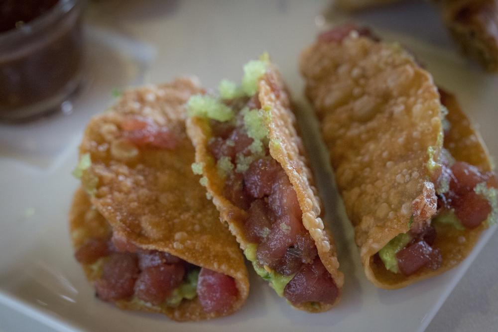 Tuna Tartare Wonton Tacos