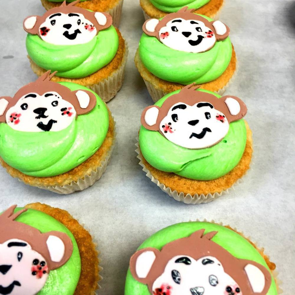 Monkey Themed Cupcakes