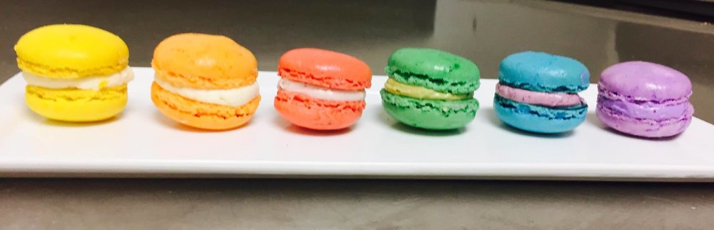 Rainbow Colored French Macaroons