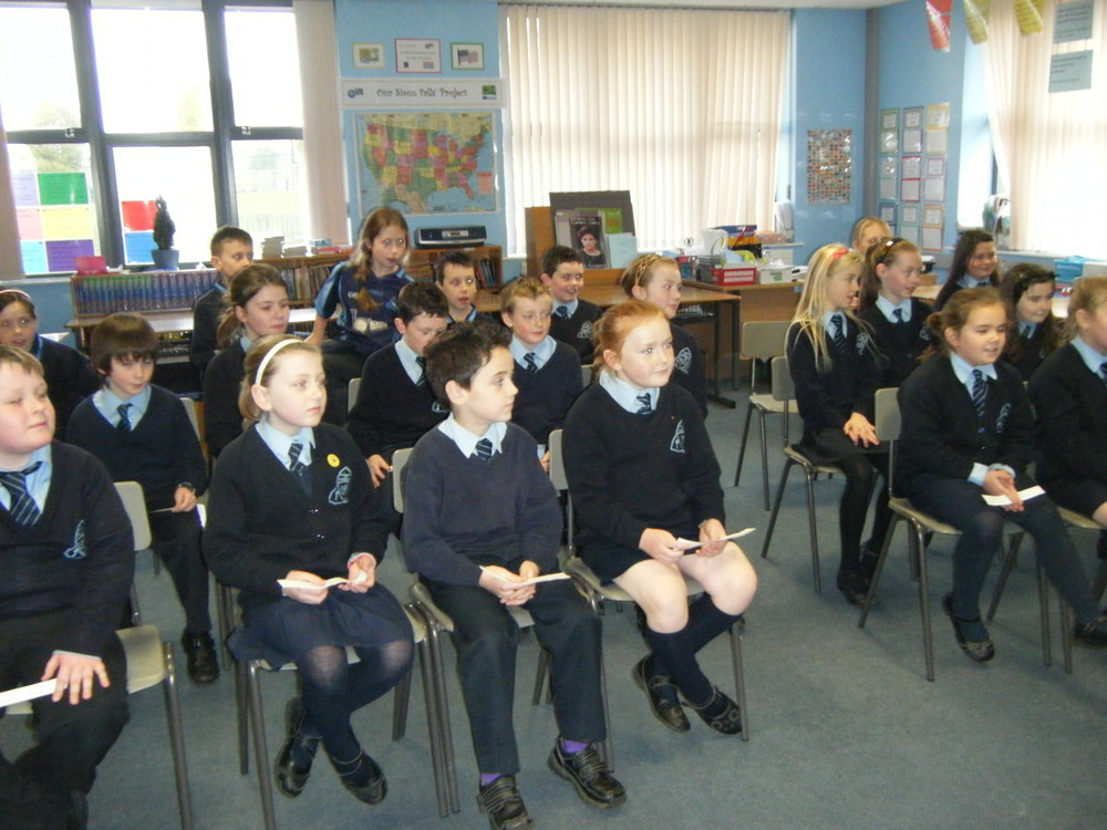 Students from St Dallan's Primary School