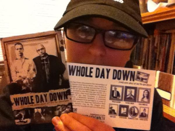 Check out Katelyn, one of our favorite fans holding up the WDD Postcards we sent her. Want a WDD Postcard? Email: info@wholedaydown.tv