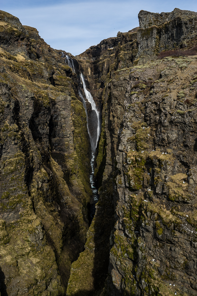 Glymurfoss: 198m tall, looking over the edge is both breathtaking and terrifying.