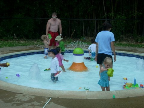 The splash and swim garden is perfect for toddlers and young three's