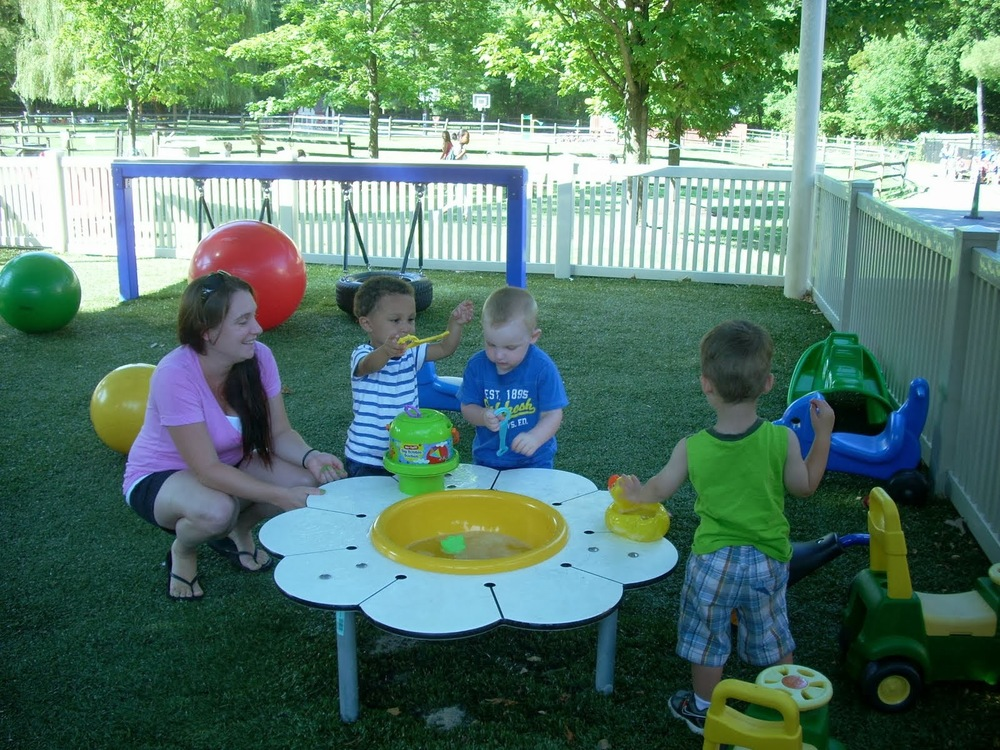 Toddler fun in the toddler playground for 1 to 2 year olds