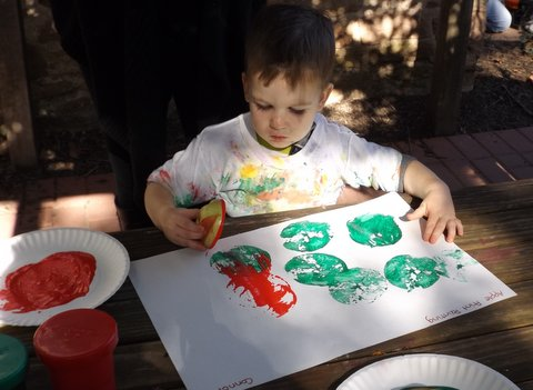 Painting in the Sun Flower Garden.JPG