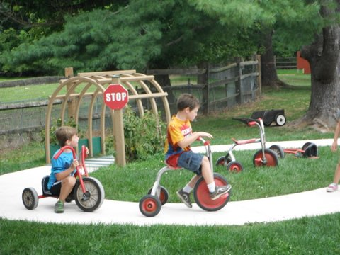 Riding on the Trike road.JPG