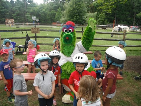 Visit from the Philly Phanatic.JPG