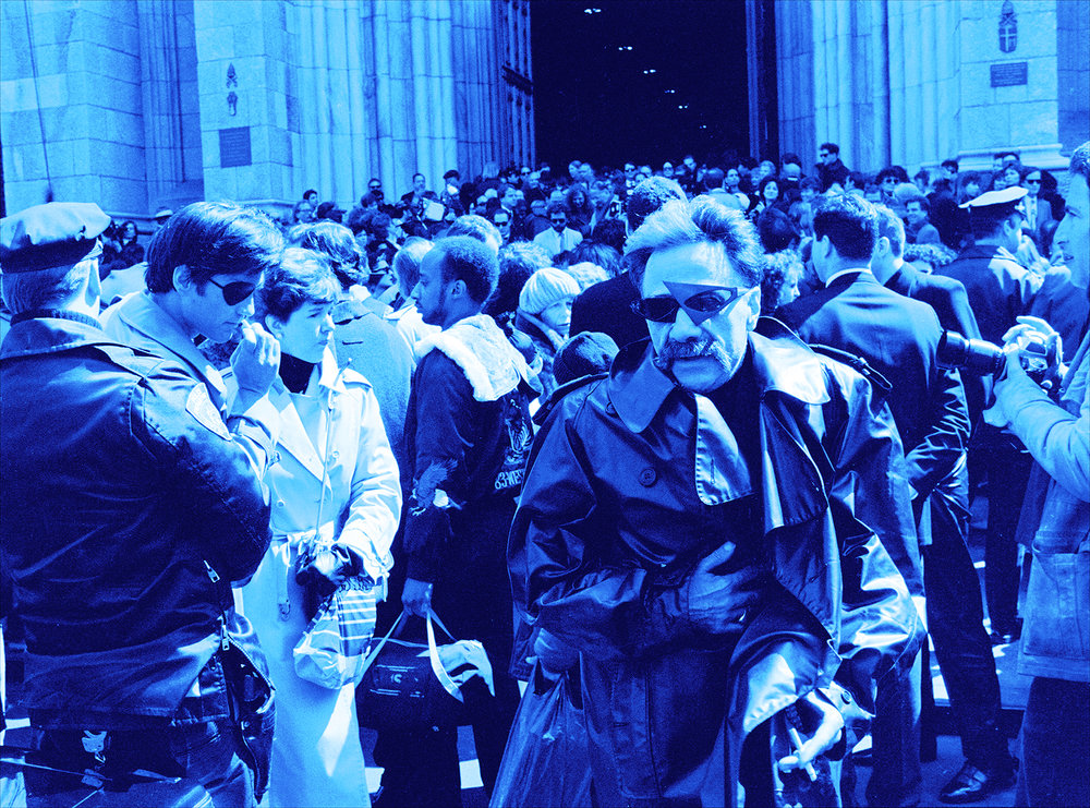 Crowd at St. Patrick's Cathedral April 1st, 1987