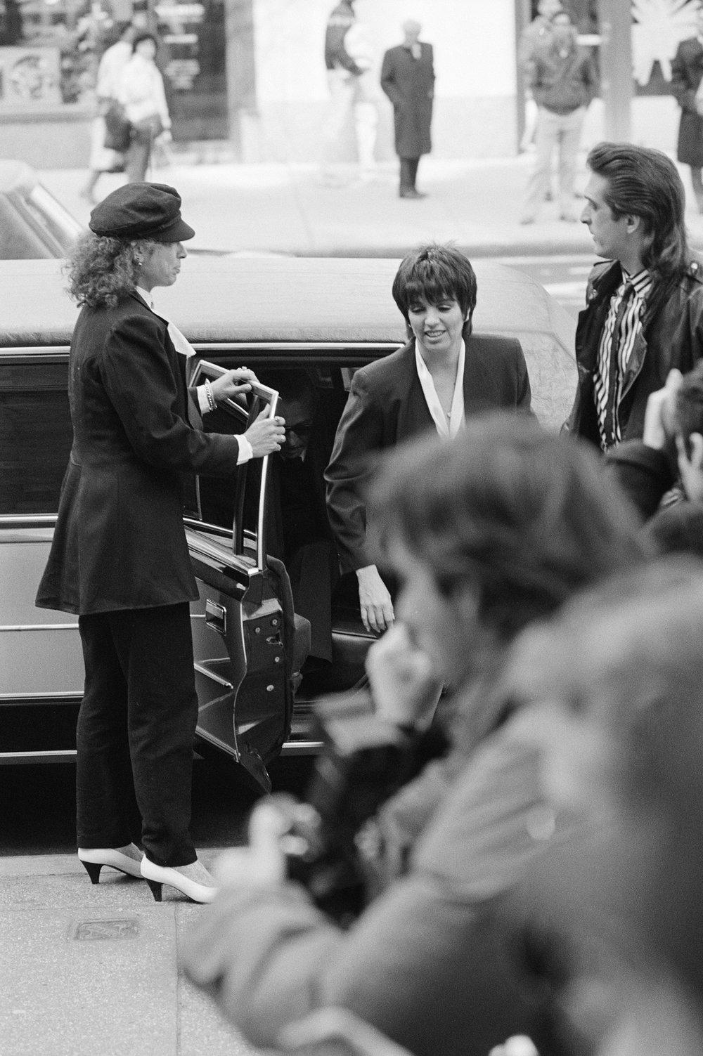 Liza Minnelli Exiting Limo