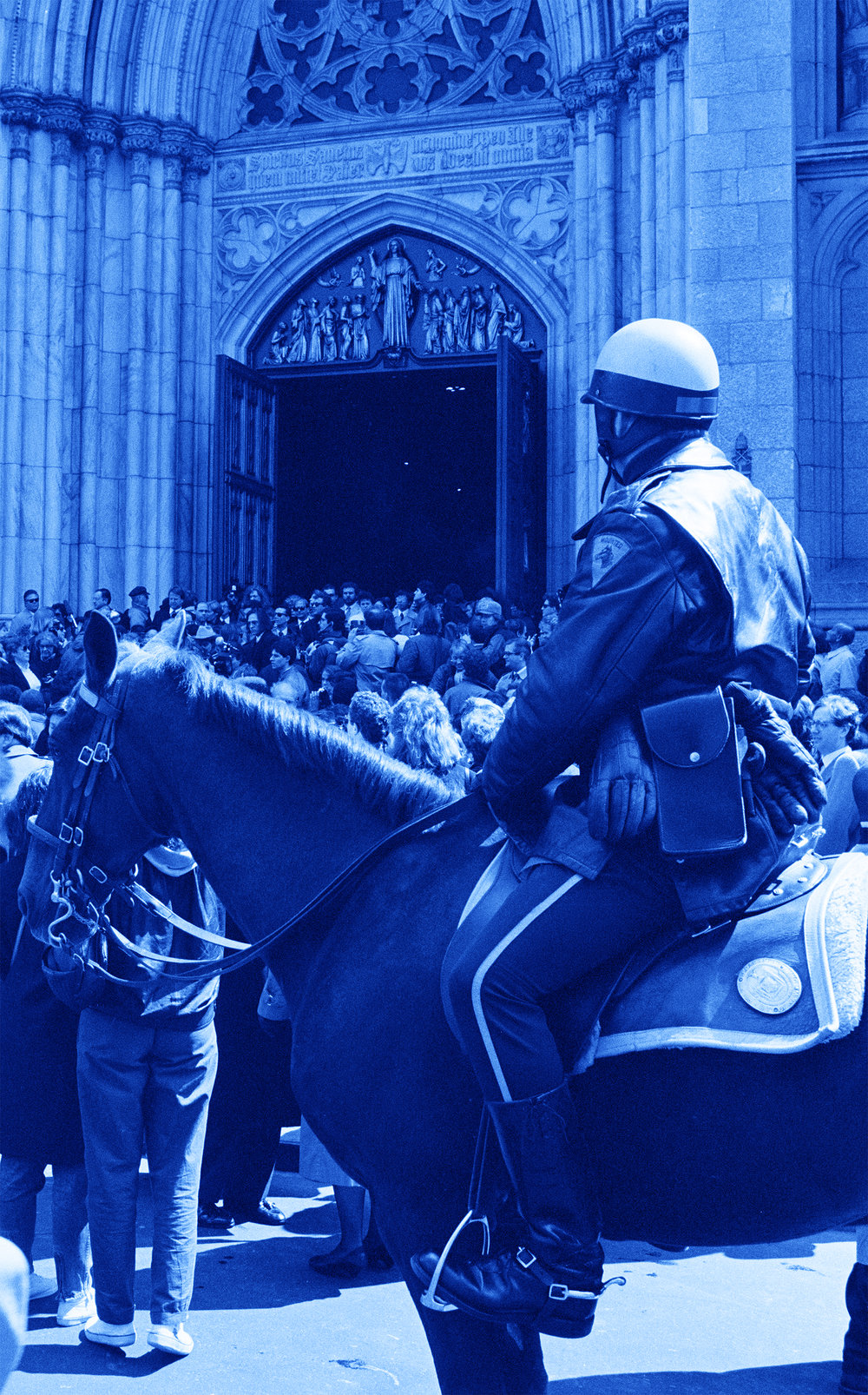 Mounted Patrol at St. Patrick's Cathedral April 1st, 1987