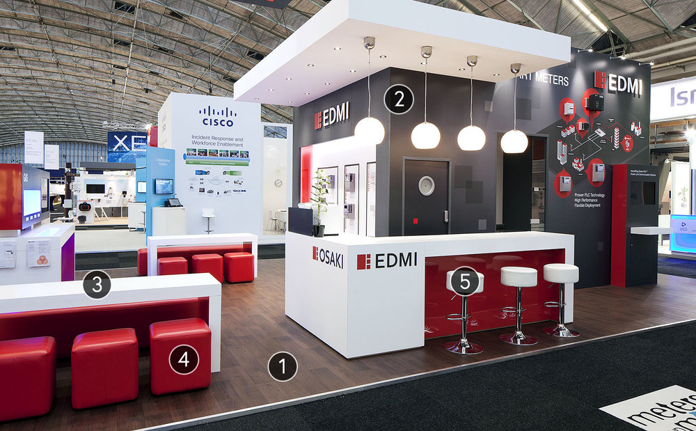 Custom Trade Show Booth: EDMI