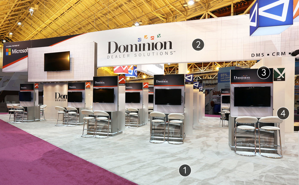 Custom Trade Show Booth: Dominion