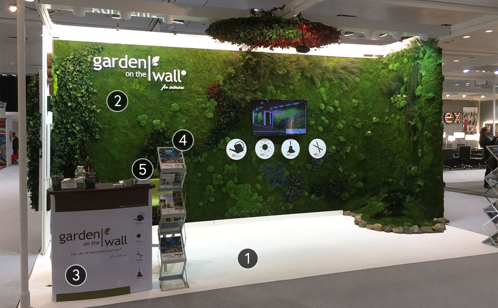 Custom Trade Show Booth: Garden on the Wall