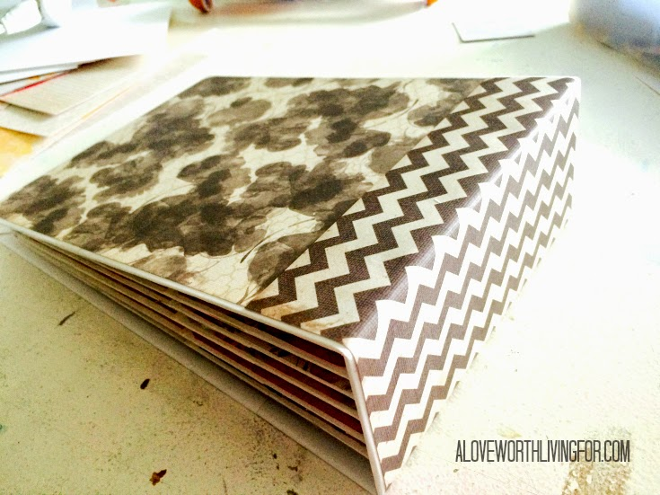 The Bloom Mini Premade Scrapbook Album by A Love Worth Living For | Premade album made from In Bloom Paper Stack by My Mind's Eye