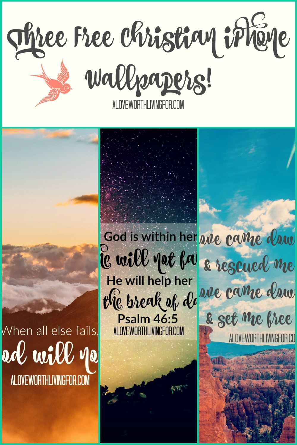 We are on our phones all day! Here are some free Christian iPhone wallpapers that I made for you guys! I hope these encourage you today and every time you open your phone.