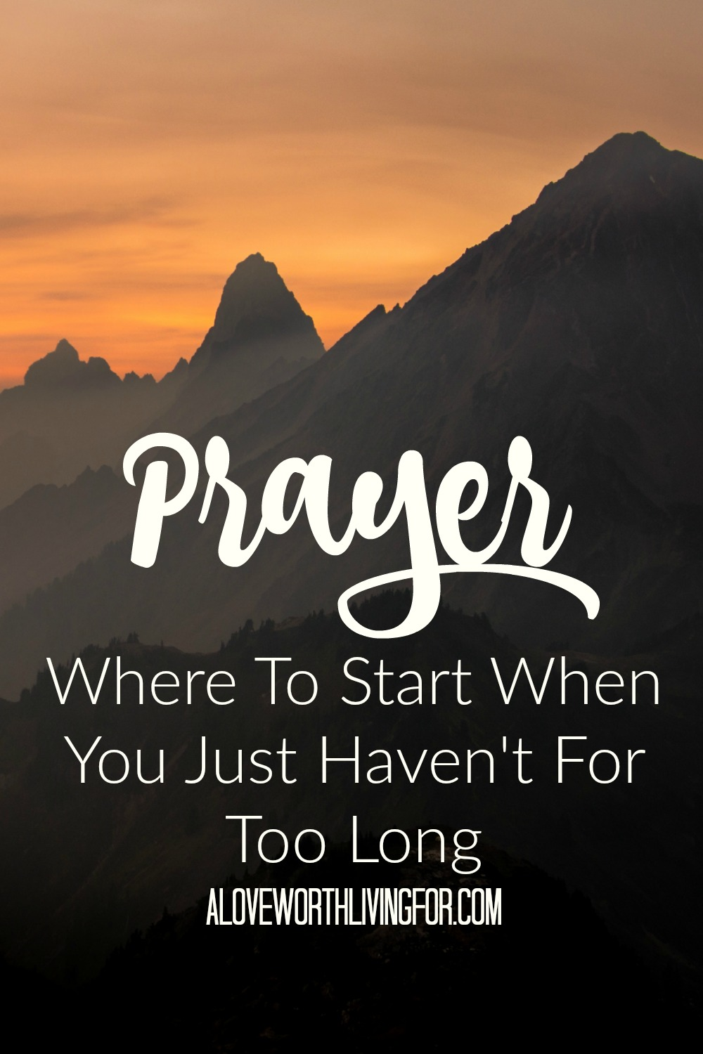 We've all been there. Life gets crazy and we all kinds of distracted and next thing you know, you don't remember the last time you've prayed. You forgot that Christianity is about relationship with God. This is to encourage you to have a deep and rich prayer life with the God that loves you and cares about your life.