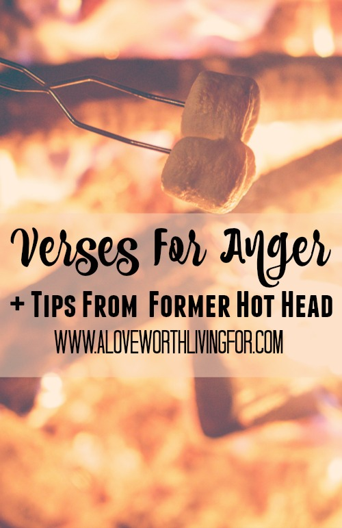 Anger is really not the problem. Here are some verses that are sure to help you deal with anger plus some great tips from a former hot head. You should at least  write them down or pin for later!
