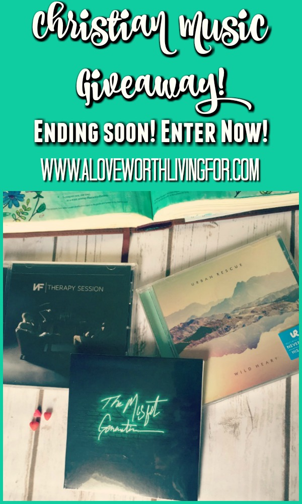 Y'all! I am giving away three CD's by three awesome Christian musicians over here on the blog! Entering is as easy as leaving a comment! It's ending soon, so hurry & come enter!