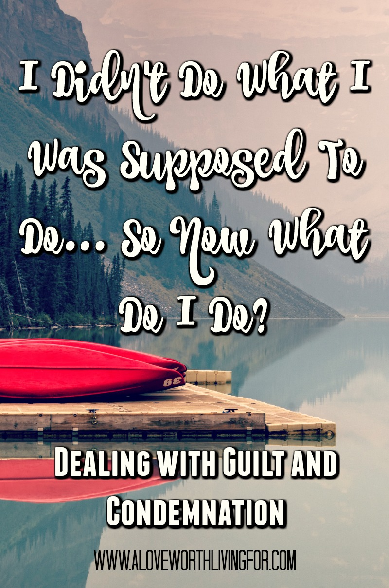 I didn't do what I was supposed to do, so now what do I do? Here is some advice for when you've messed up or dropped the ball. This devotional will remind you that you are still loved & arm you with verses for guilt and condemnation.