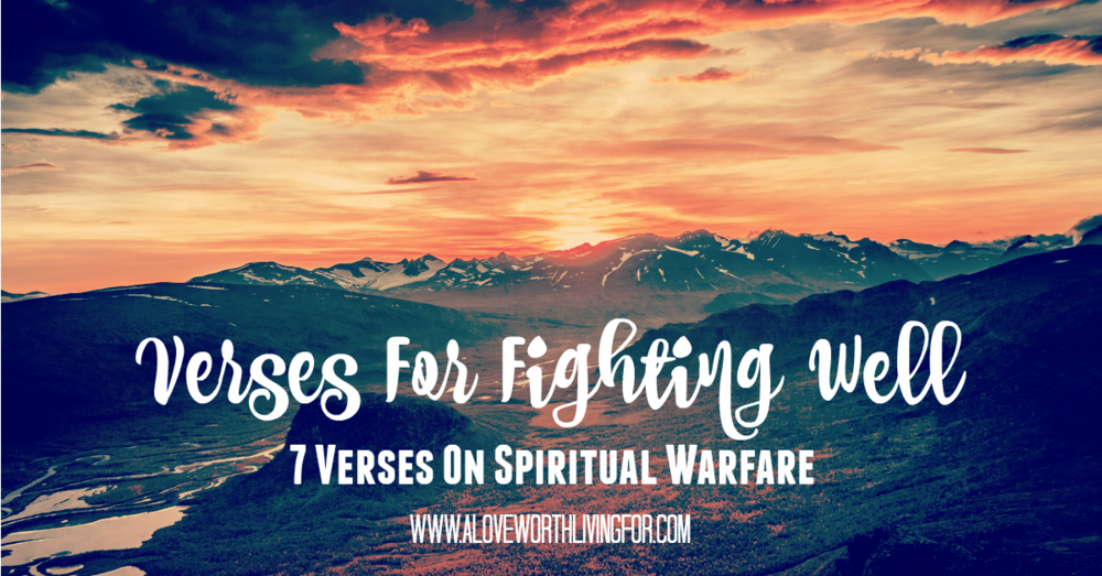 We face battles on a regular basis but we need to know that we are not alone in those fights and we don't have to depend on our own strength and resources. Arm yourselves with these verses!