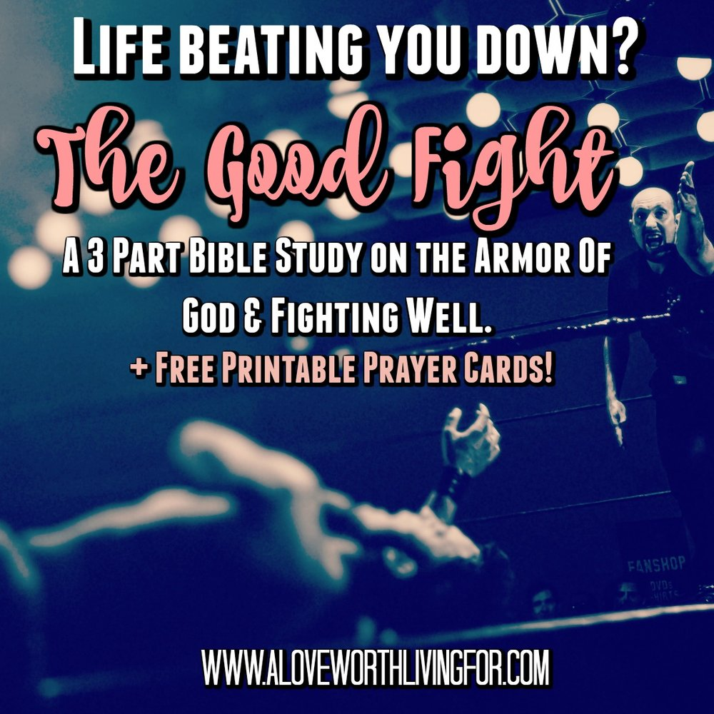 The Good Fight - A Bible Study on The Armor Of God and Fighting Well Part 1 by A Love Worth Living For 001.jpg