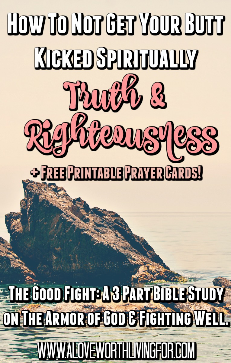 Life is a real battle sometimes. God says we have a set of armor but how does one put on truth or righteousness? Join us for this 3 part bible study on the armor of God, spiritual warfare and fighting well.